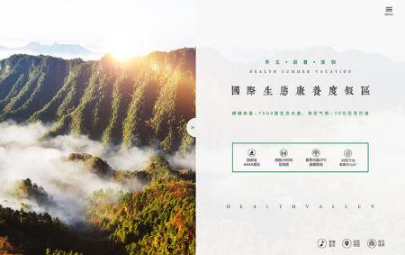 曽家山养生谷官网网站制作设计开发